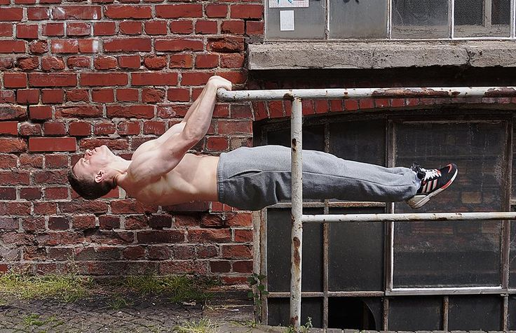 Front lever street workout