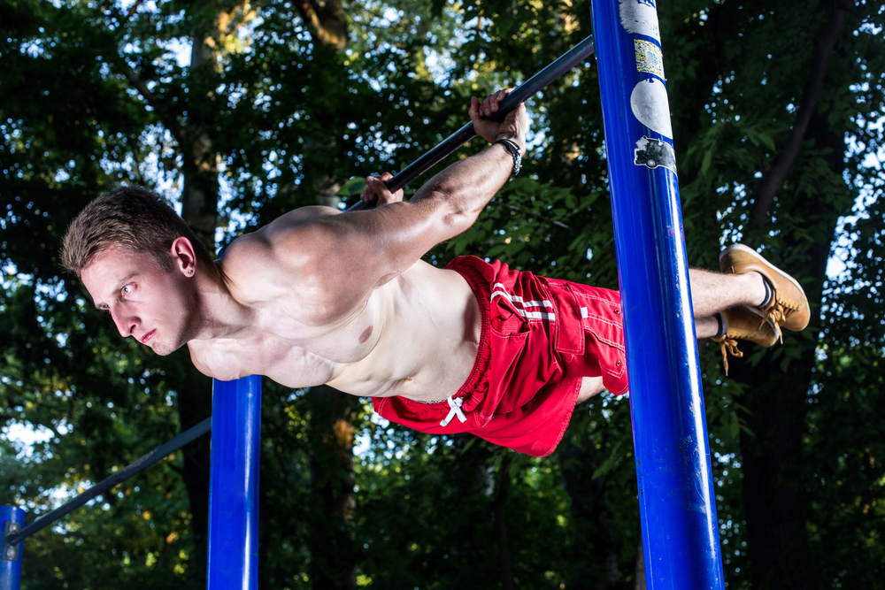 Back lever street workout
