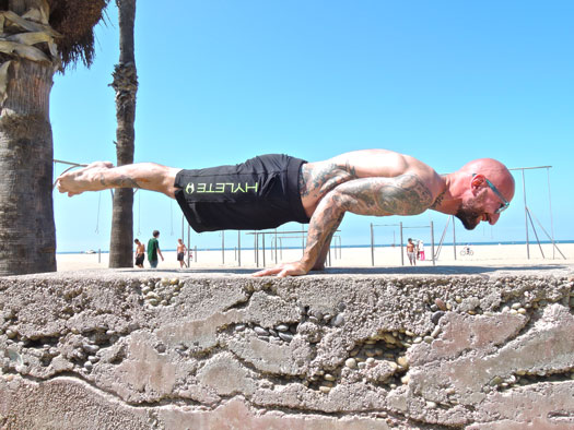 Elbow lever street workout