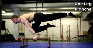 One leg planche - street workout