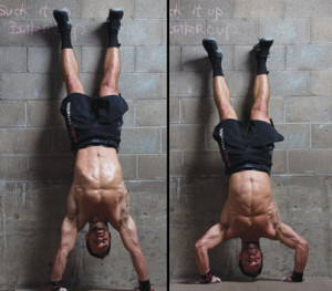 negative handstand press-up