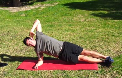 side plank street workout