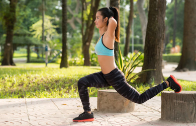 Split squat street workout